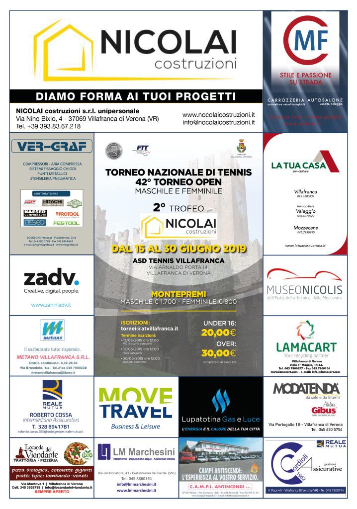 locandina TORNEO OPEN Villafranca 2019