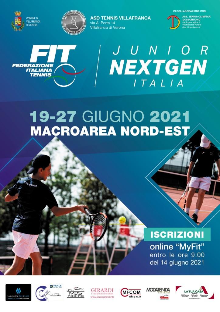 Locandina Junior Next Gen Italia MACROAREA NORD-EST_VILLAFRANCA 2021