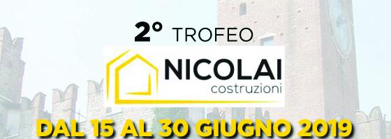 42° Torneo Open città di Villafranca – 2° trofeo NICOLAI COSTRUZIONI